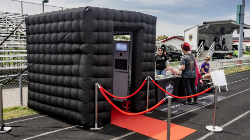 Black Inflatable Photobooth Enclosure