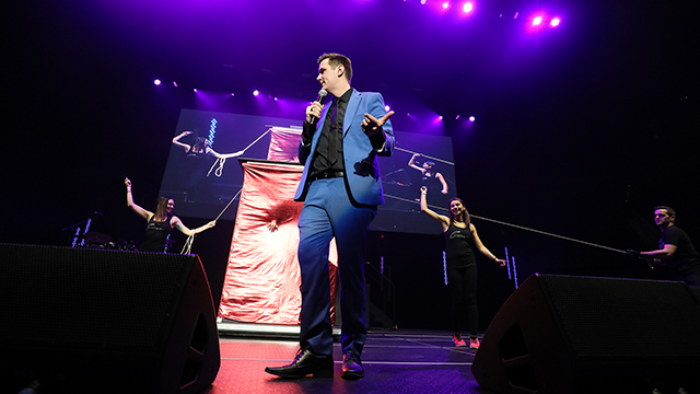 Big Show at Little Caesars Arena with magician, Ryan Christopher