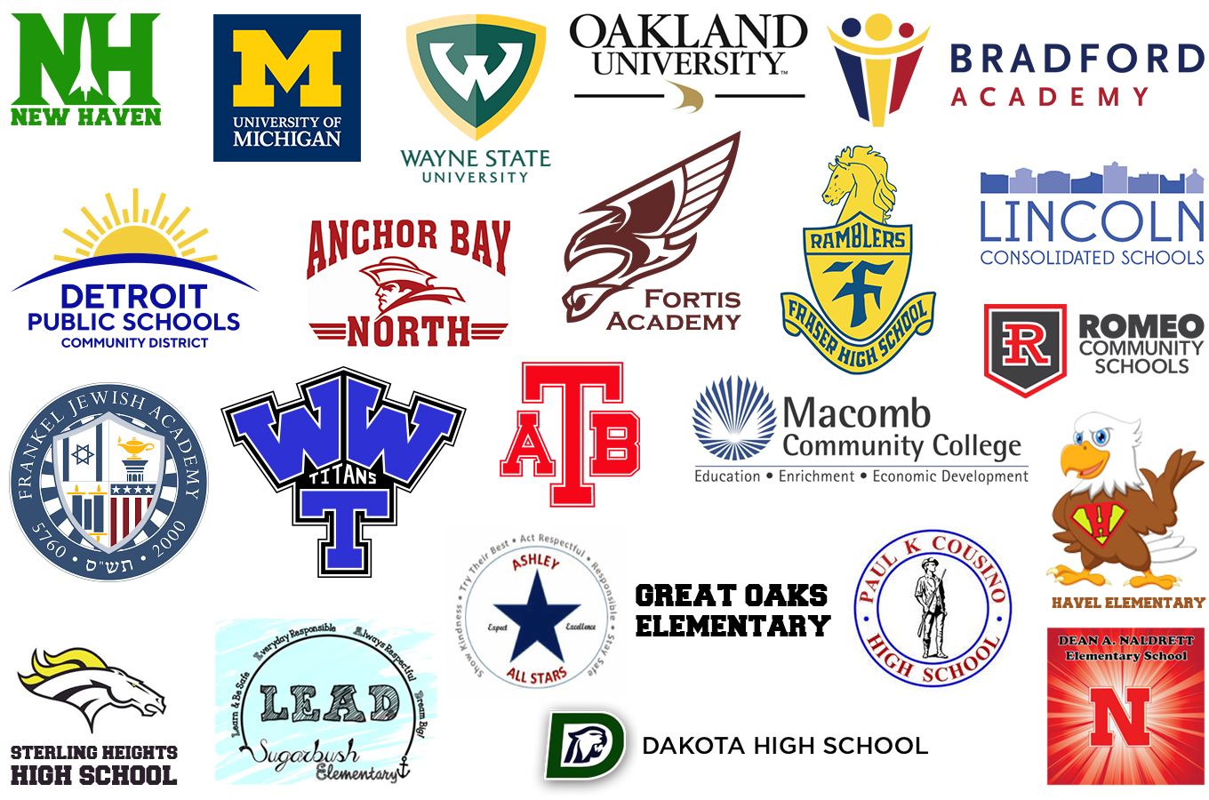 Schools we've worked with.